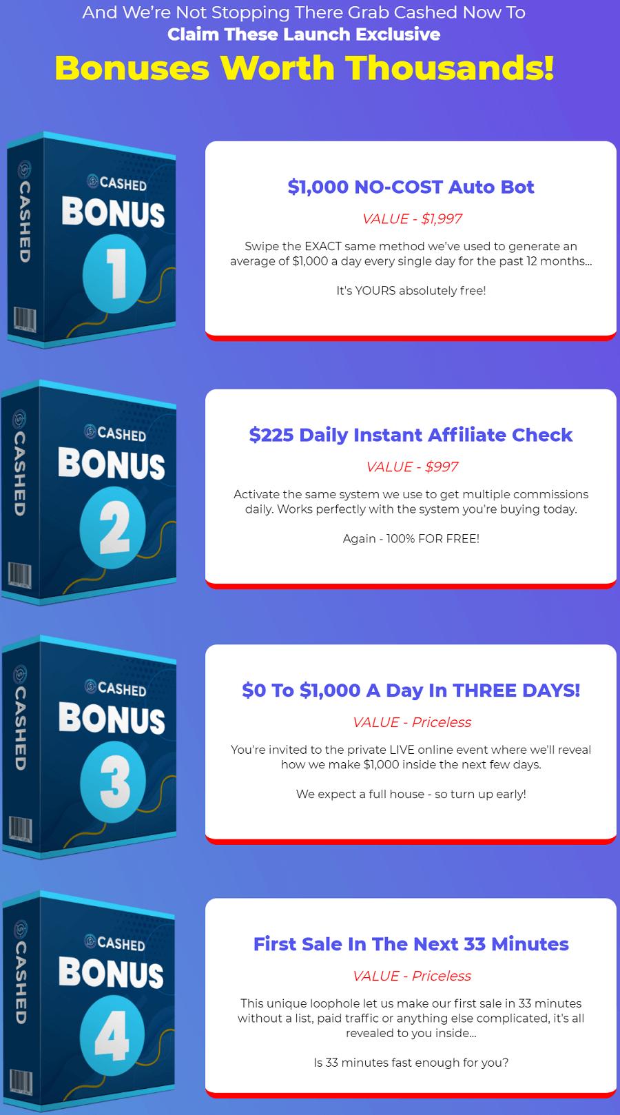 CASHED bonus